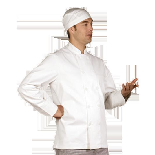 Veste de cuisine blanche pour homme - Veste cuisine homme personnalise ...