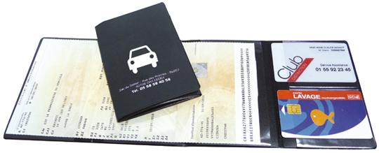 style roman fabrication habile vente discount Porte carte grise 2 en 1 à personnaliser